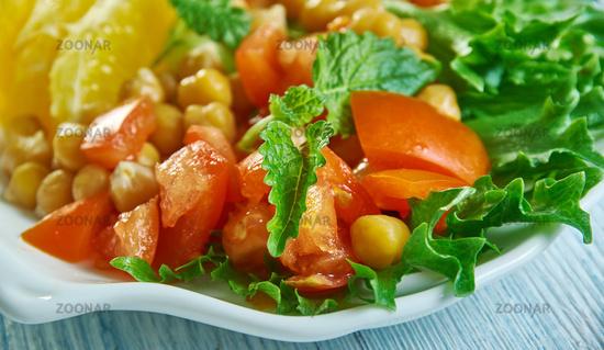 Chickpea Pancetta Salad