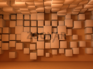 Wall Background, Cubes