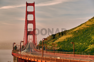 Golden Gate Bridge view at sunrise, San Francisco