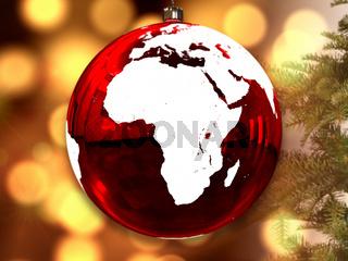 Africa on Christmas ball