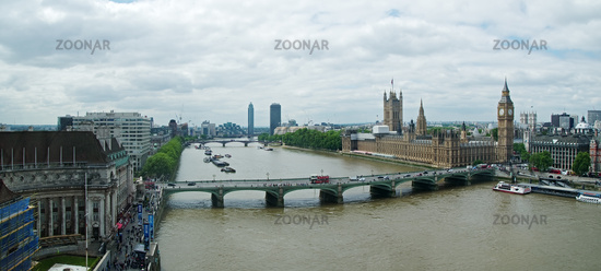 View of the River Thames and the