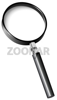Vector illustration of magnifier isolated on white