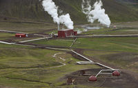 Krafla Geothermal Station in Northern Iceland