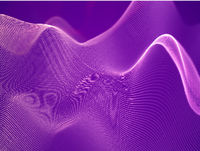 3D visualization of sound waves. Big data or information concept: Pink chart.