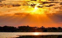 Sunset at Shire, Liwonde National Park, Malawi