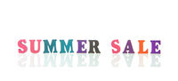Summer sale in wooden letters