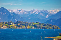 Lake Luzern sailing destination and Alpine peaks view