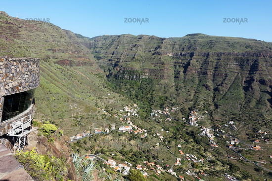 Viewpoint to Valle Gran Rey, La Gomera, Canary Islands