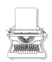 Outlined typewriter