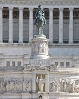 Vittoriano or Altar of the Fatherland - and monument of Victor Emmanuel on Venice square, Rome, Ital