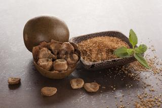 Luo Han Guo aka Monk fruit and sugar.