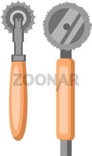 Pizza Cutter vector color illustration.