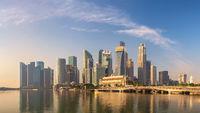 Singapore panorama city skyline at Marina Bay and Singapore business district