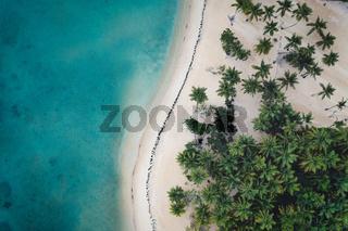 Drone shot of Samana beach
