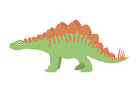 Stegosaurus icon flat style. Isolated on white background. Vector illustration