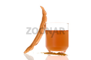 Reishi brew in glass.