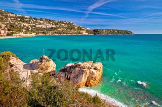 Cap Martin near Monaco Mediterranean coast view