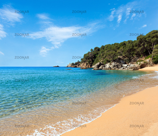 Mediterranean sea rocky coast, Spain
