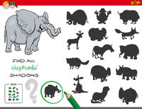 shadows game with elephant characters