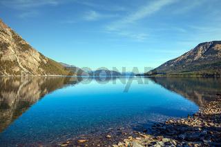Picturesque lake in Argentina