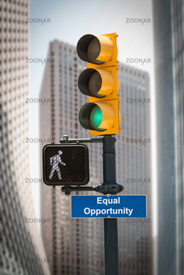Street Sign EQUAL OPPORTUNITY