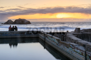 Sunset over Sutro Baths Ruins