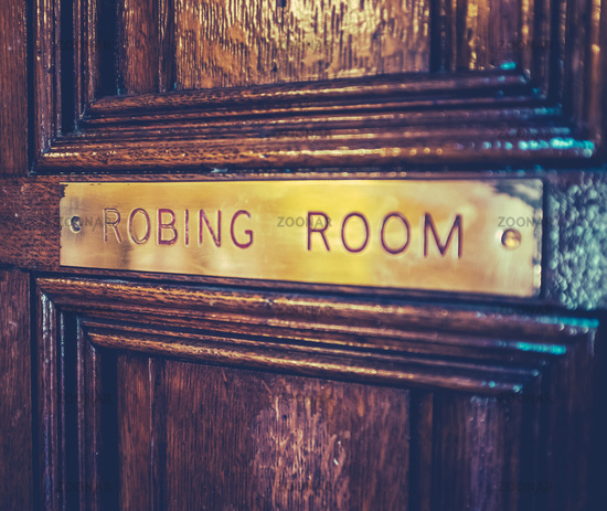 Parliament Robing Room Sign
