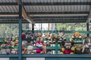 Galerie der ausgemusterten Stofftiere