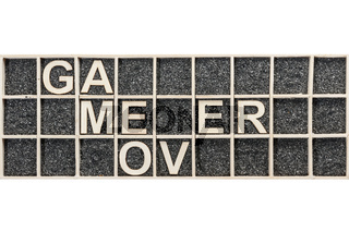 Wooden letters game over break