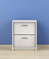 White wood nightstand