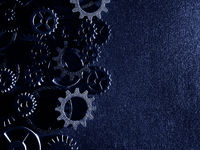 Gears with textured background
