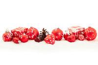 Weihnachten Hintergrund Dekoration in rot