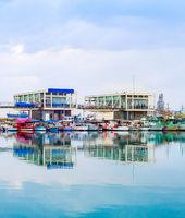 Marina with restaurants, Limassol, Cyprus