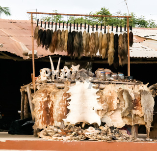 Woodoo market in Ouidah, Benin
