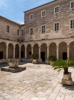 Cloisters of Franciscan Monastery in the old town of Zadar in Croatia