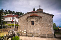 Exterior view to Presveta Bogorodica Kamensko Church, Ohrid, North Macedonia