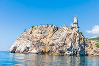 Crimean Cape and the Swallow Nest Castle, beautiful sea view.
