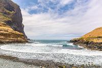 Portuguese landscape with sea coast and mountains