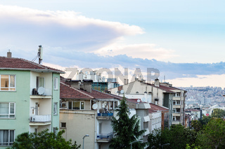 residential district in Ankara city in evening