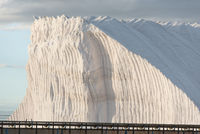 hill of pure salt with ropebelt