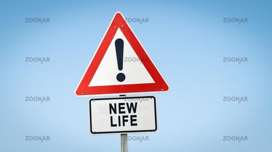 Street Sign NEW LIFE