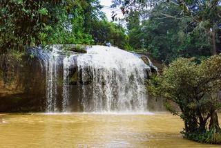 waterfall in jungle park vietnam