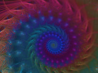 Abstract blurred spiral - digitally generated 3d illustration