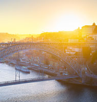 Porto Old Town skyline.  Portugal