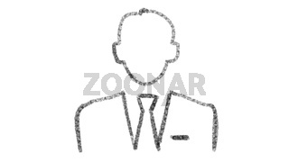 businessman icon with style drawing on chalkboard, animated footage ideal for compositing and motiongrafics