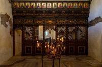 Interior of the Bulgarian Orthodox Church. Burgas Gulf of the Black Sea.