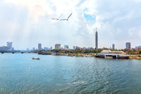Cairo Tower and the Nile, beautiful morning view