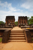The ruins of an ancient temple, Sri Lanka