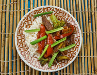 Beef chilli flash fry