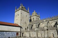 The Porto Cathedral (Cathedral of the Assumption of Our Lady) or Sé do Porto, Porto, Portugal